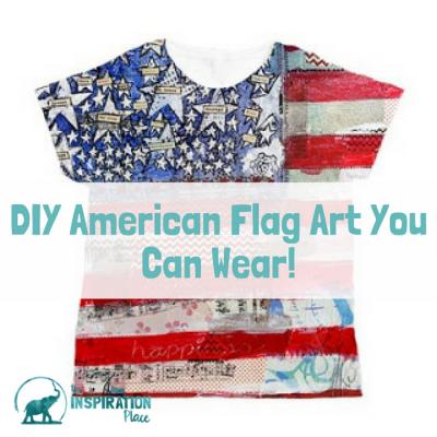 DIY American Flag Art you can wear!