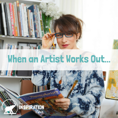 When an artist works out…