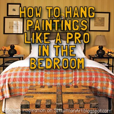 How to hang pictures like a pro (the bedroom)
