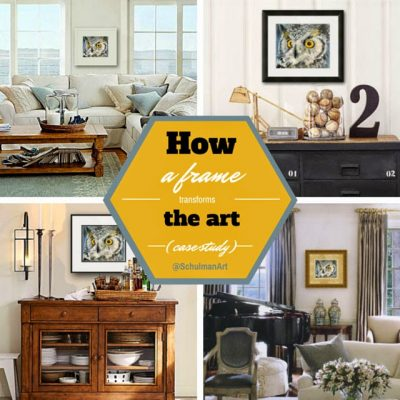 How a Frame transforms the art