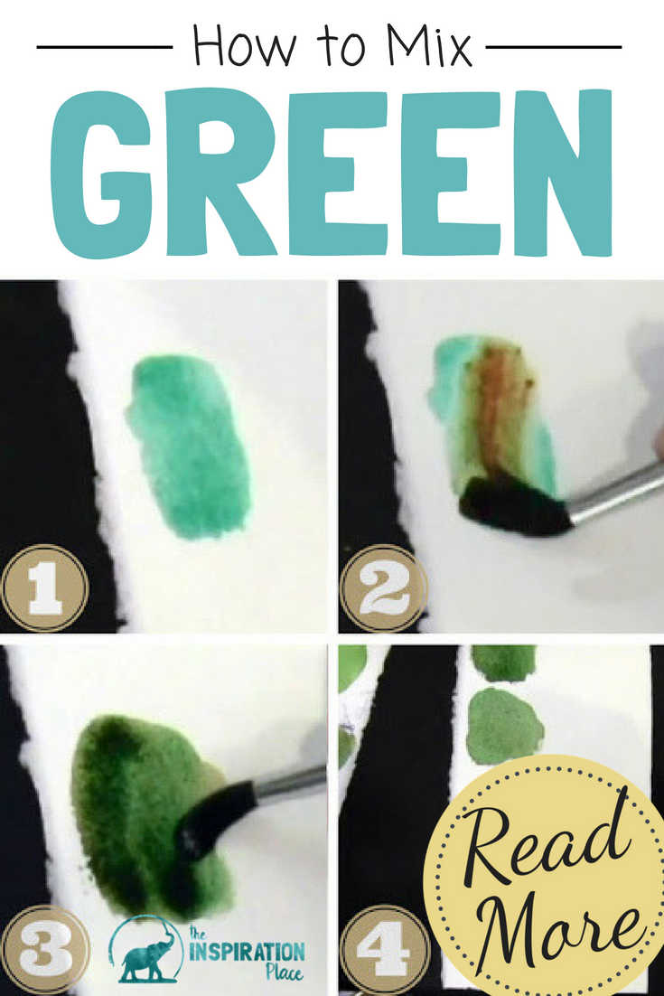 watercolor painting techniques: how to mix green watercolor paint https://schulmanart.com/2015/07/watercolor-wednesdays-how-to-mix-green-paint/