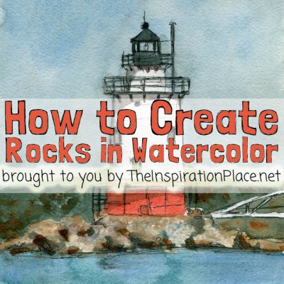 Watercolor Wednesdays: How to Create Rock Textures