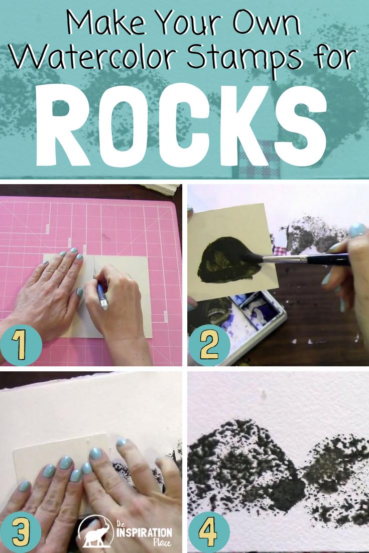 watercolor techniques | how to create rock textures https://www.schulmanart.com/2015/08/watercolor-wednesdays-how-to-create-rock-textures/