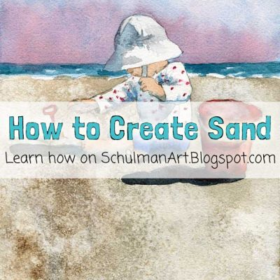 Watercolor Wednesdays: How to Paint Sand