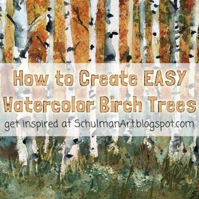 How to paint EASY Watercolor Trees
